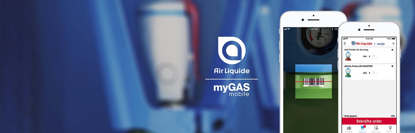 myGAS mobilapp - beställ gas när du vill var du vill | myGAS | Air Liquide